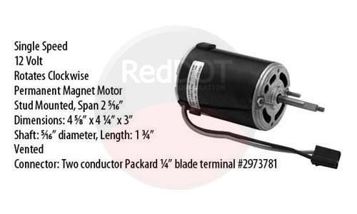 Red Dot Single Shaft 12V Blower Motor 73R0422